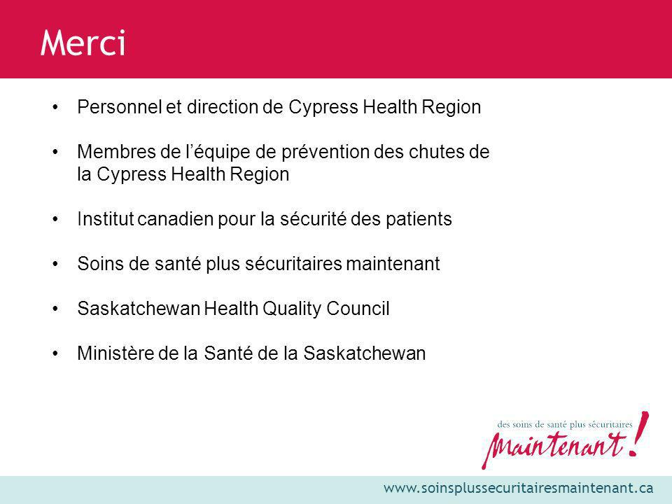 Merci Personnel et direction de Cypress Health Region