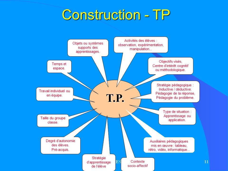 Construction - TP T.P. MA ME 99 Objectifs visés,