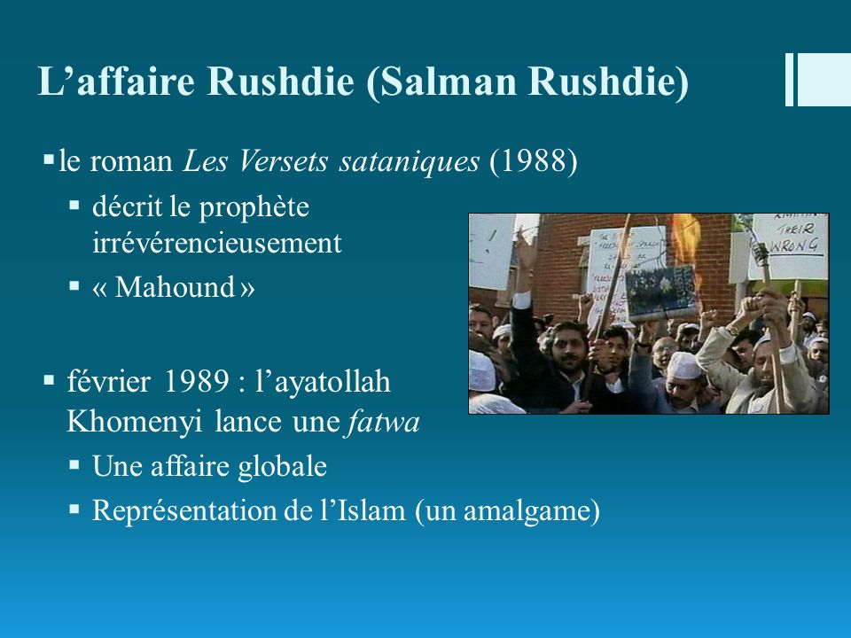 L'affaire Rushdie (Salman Rushdie)