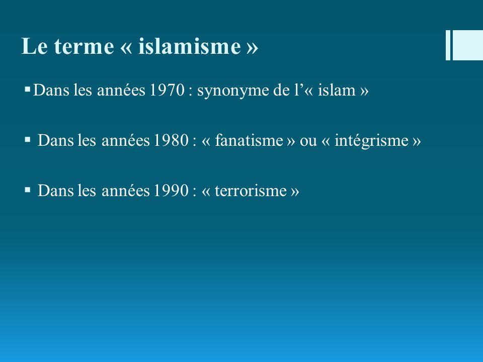 Le terme « islamisme » Dans les années 1970 : synonyme de l'« islam »