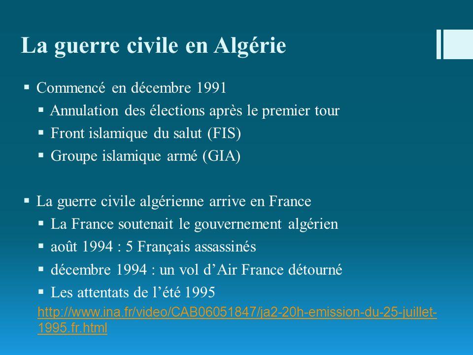 La guerre civile en Algérie