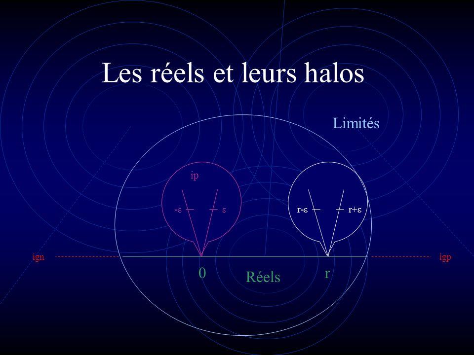 Les réels et leurs halos