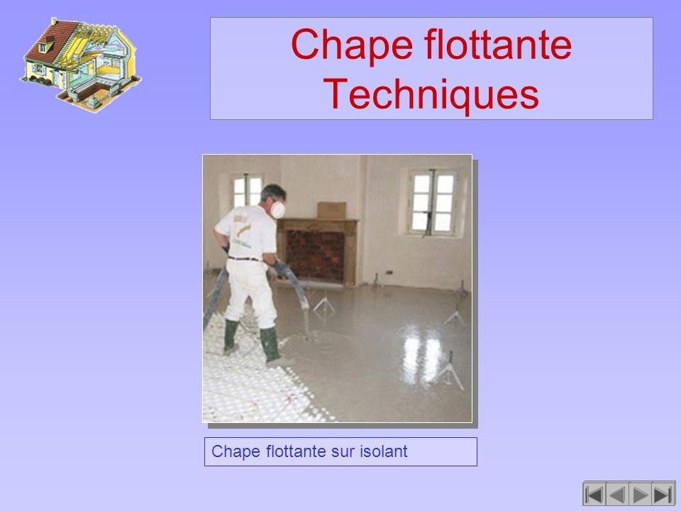 Chape flottante Techniques