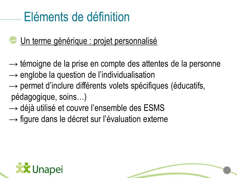 Eléments de définition