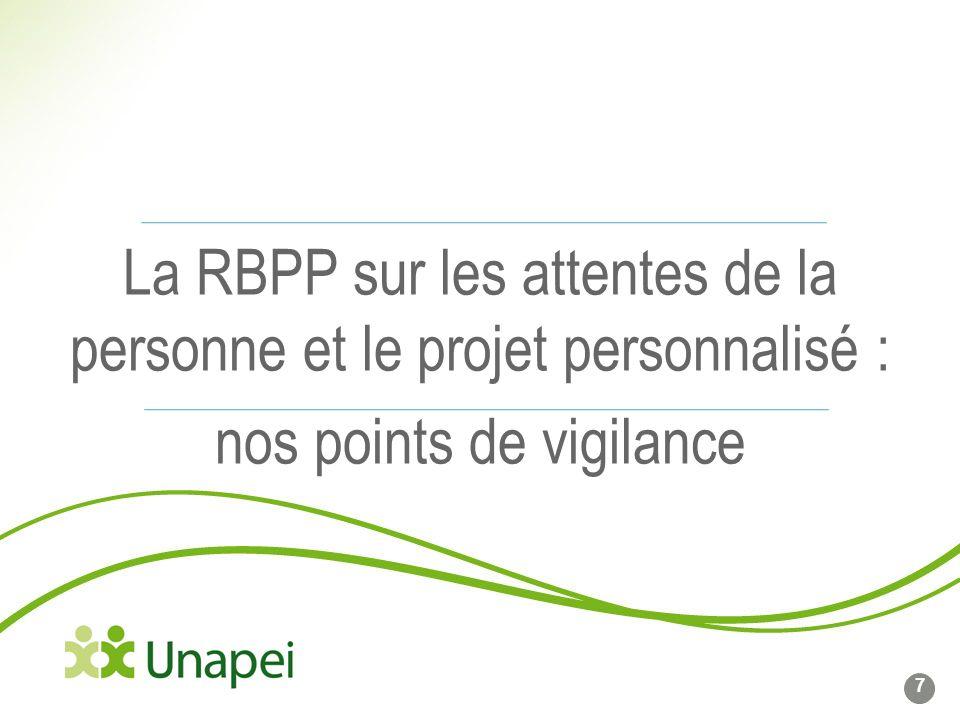 La RBPP sur les attentes de la personne et le projet personnalisé : nos points de vigilance
