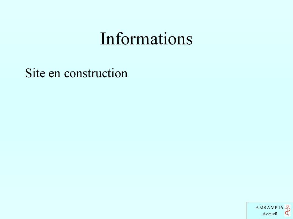 Informations Site en construction
