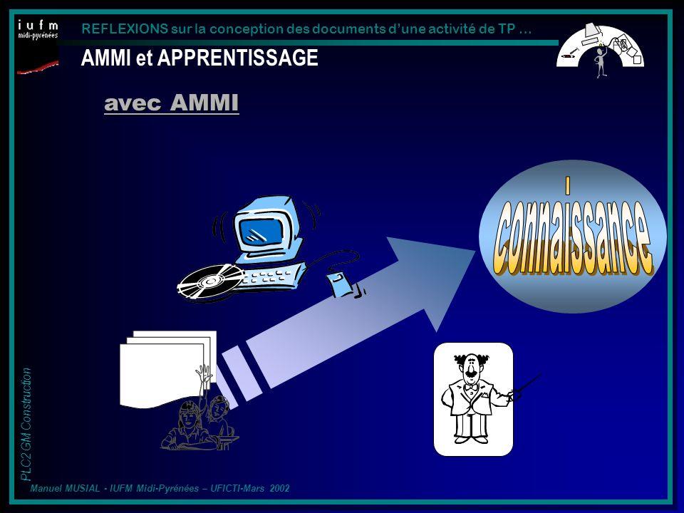 connaissance AMMI et APPRENTISSAGE avec AMMI