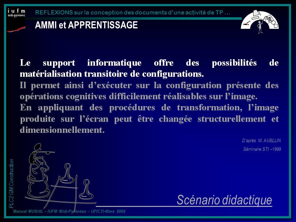Scénario didactique AMMI et APPRENTISSAGE D'après M. AUBLLIN