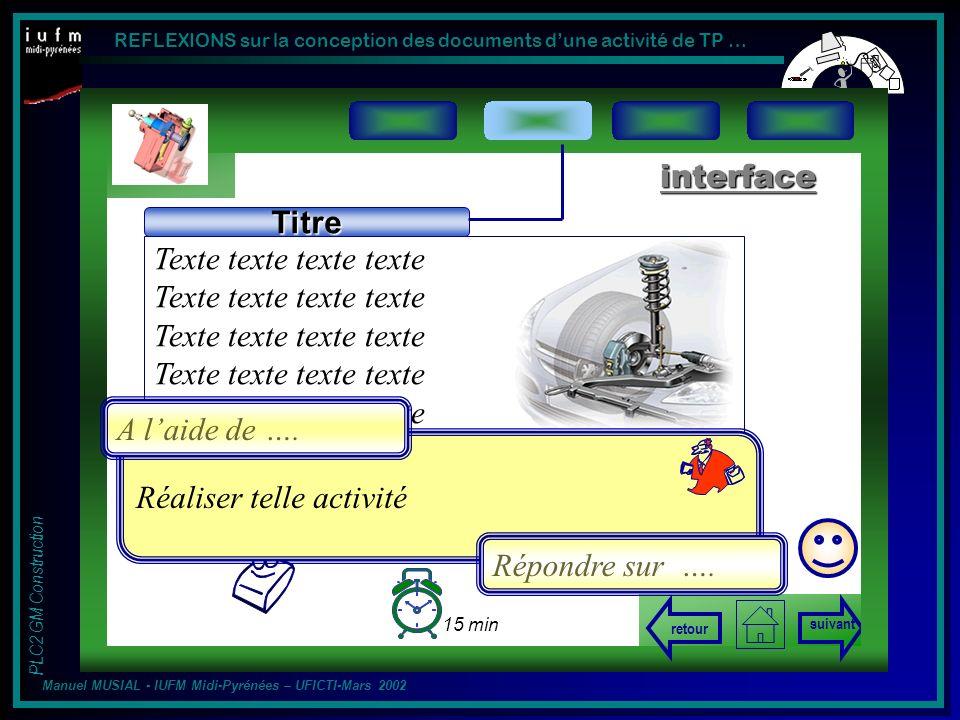 Texte texte texte texte Titre interface