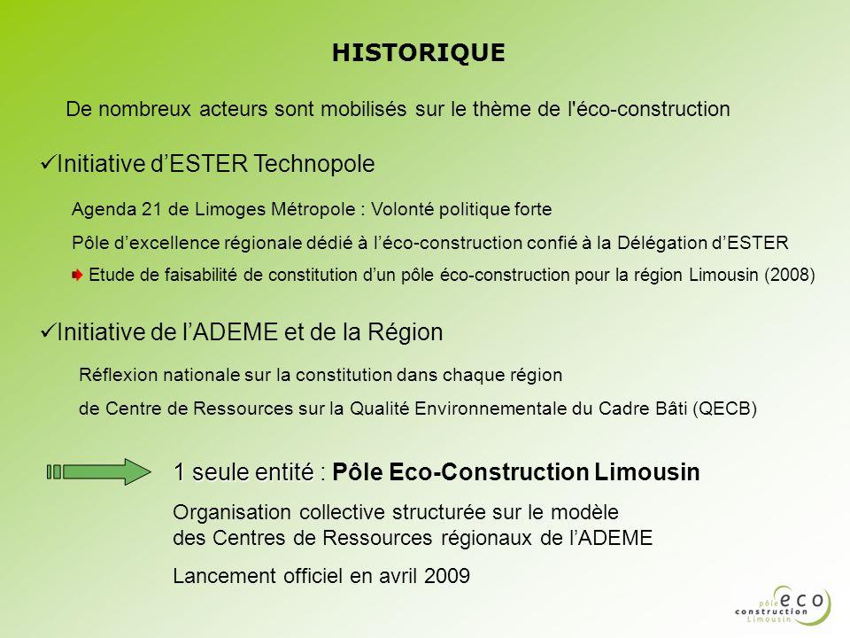 De nombreux acteurs sont mobilisés sur le thème de l éco-construction