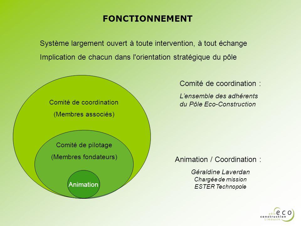 FONCTIONNEMENT Système largement ouvert à toute intervention, à tout échange. Implication de chacun dans l orientation stratégique du pôle.