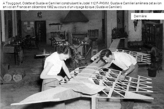 A Touggourt, Odette et Gustave Camilieri construisent le Jodel 112 F-PKMM. Gustave Camilieri amènera cet avion en vol en France en décembre 1962 au cours d'un voyage épique (Gustave Camilieri)
