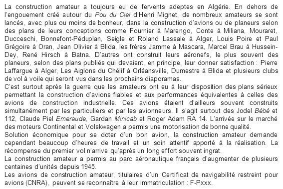 La construction amateur a toujours eu de fervents adeptes en Algérie