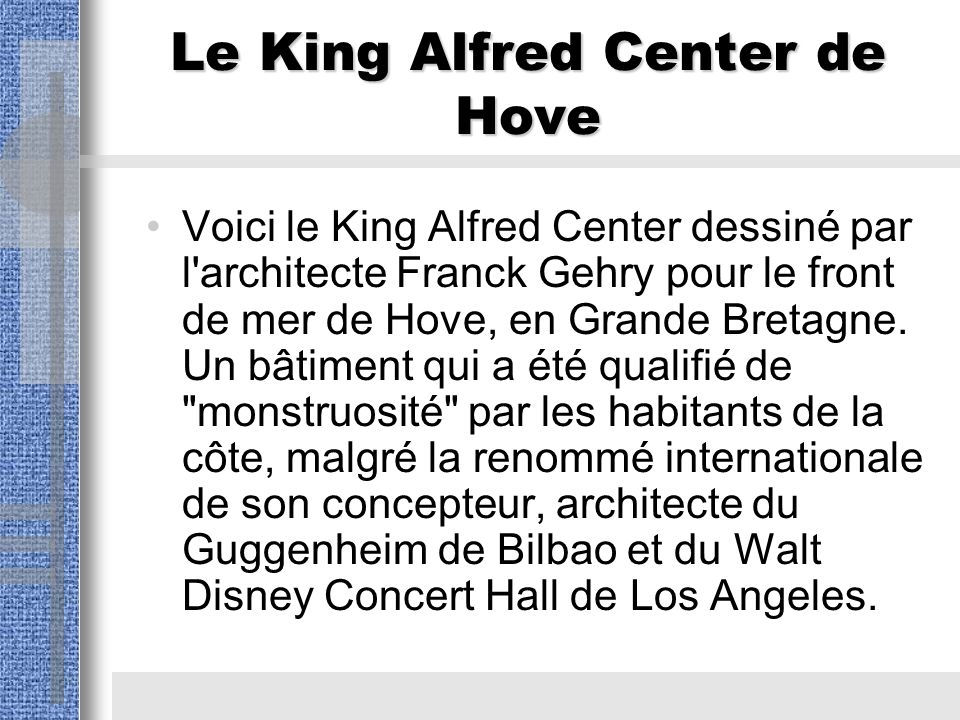 Le King Alfred Center de Hove