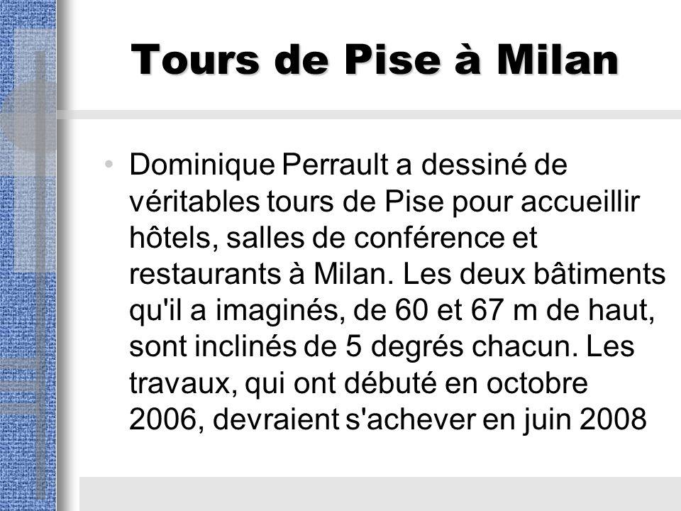 Tours de Pise à Milan