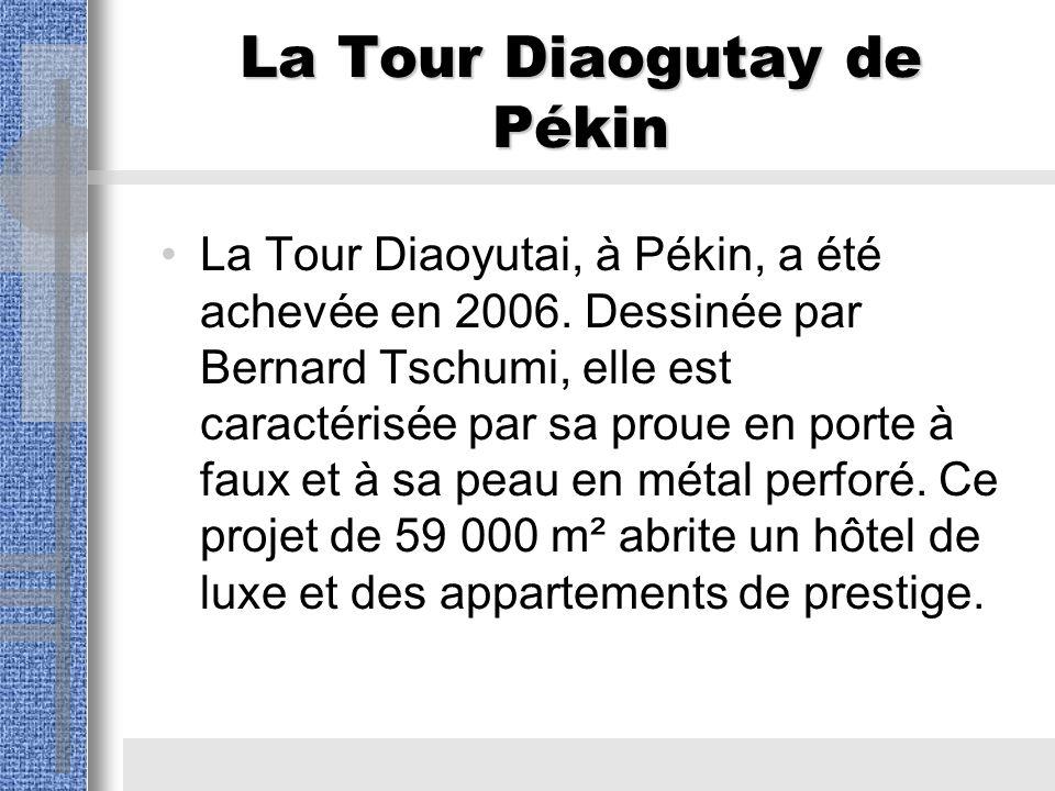 La Tour Diaogutay de Pékin