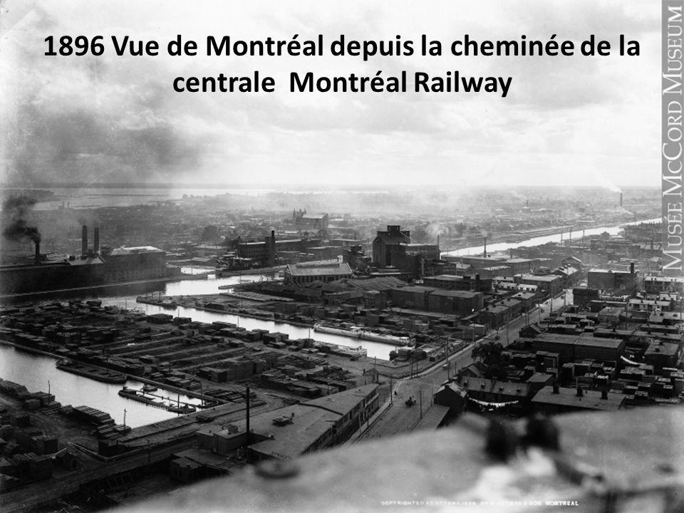 1896 Vue de Montréal depuis la cheminée de la centrale Montréal Railway