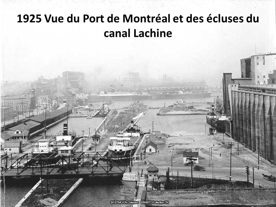 1925 Vue du Port de Montréal et des écluses du canal Lachine