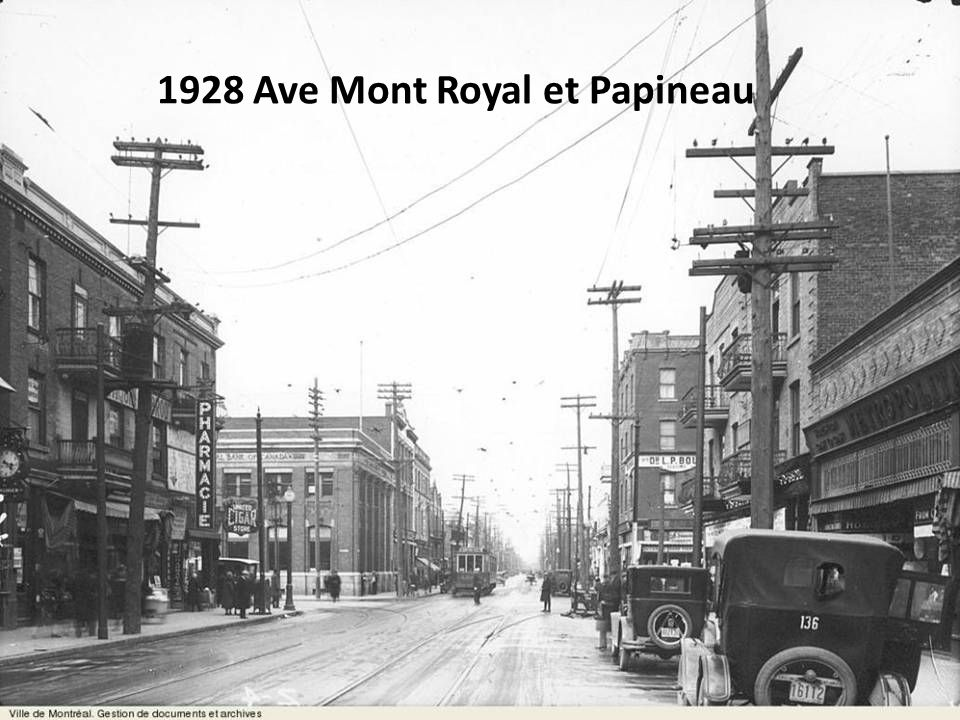 1928 Ave Mont Royal et Papineau