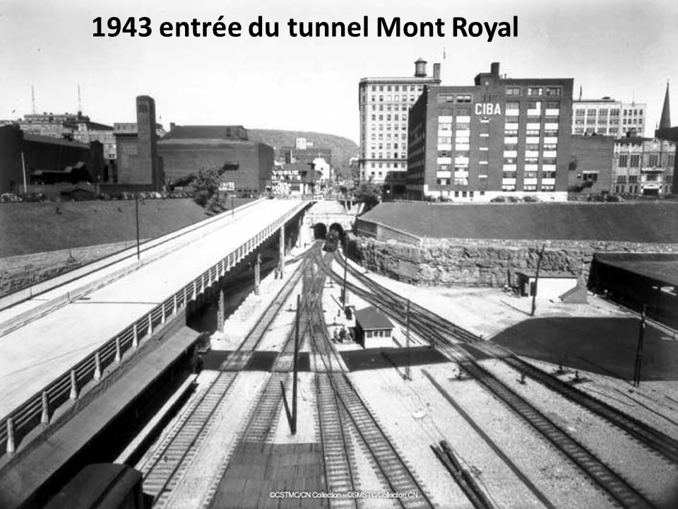 1943 entrée du tunnel Mont Royal