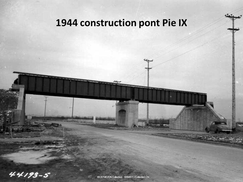 1944 construction pont Pie IX