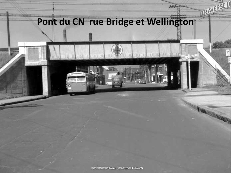 Pont du CN rue Bridge et Wellington