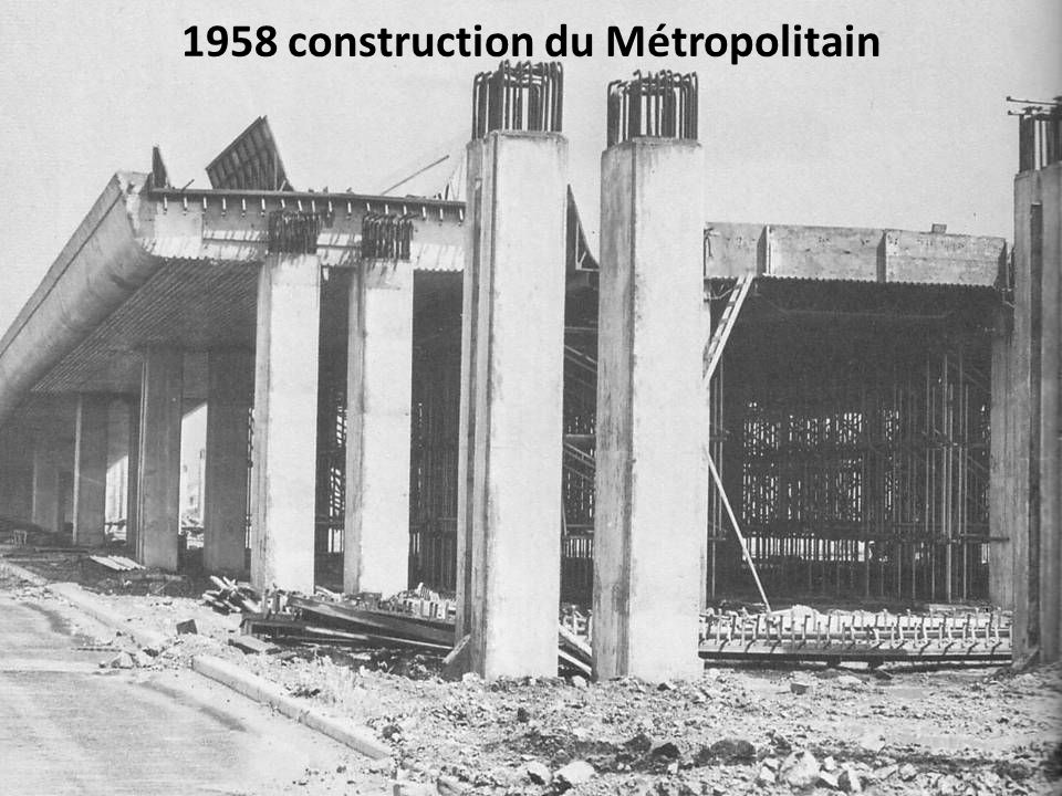 1958 construction du Métropolitain