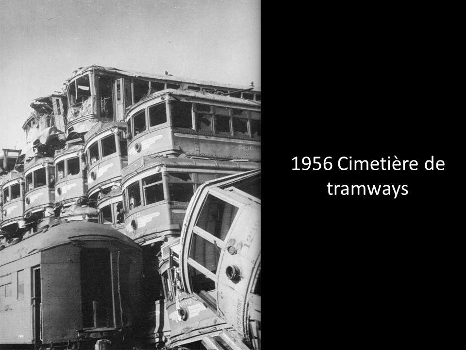 1956 Cimetière de tramways