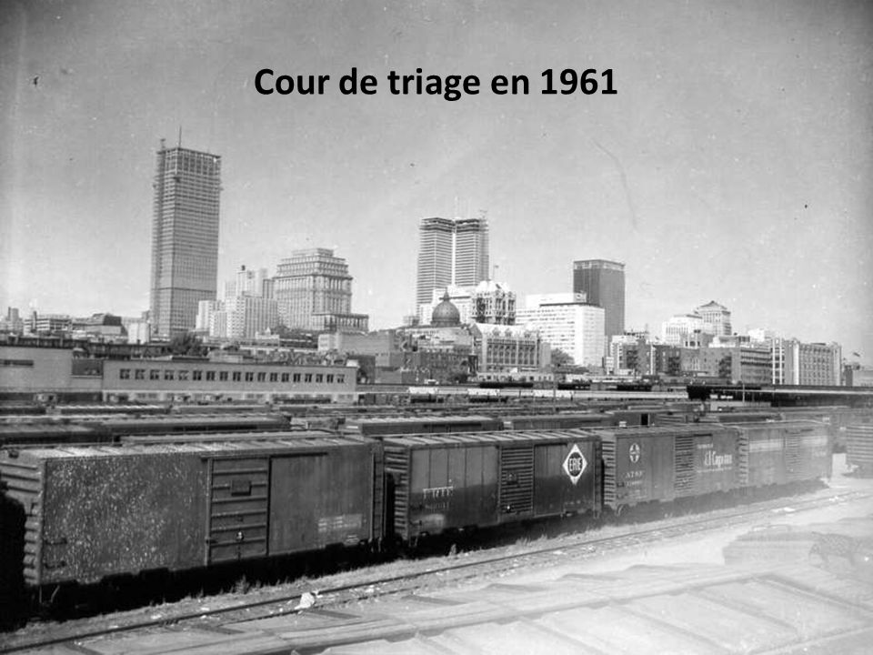 Cour de triage en 1961
