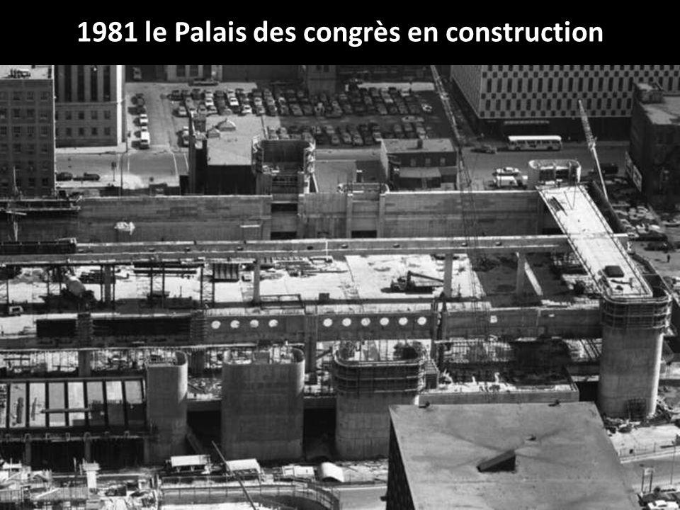 1981 le Palais des congrès en construction