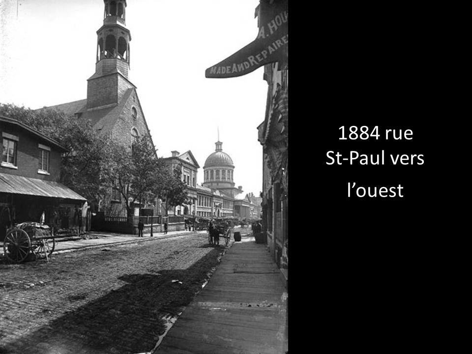 1884 rue St-Paul vers l'ouest