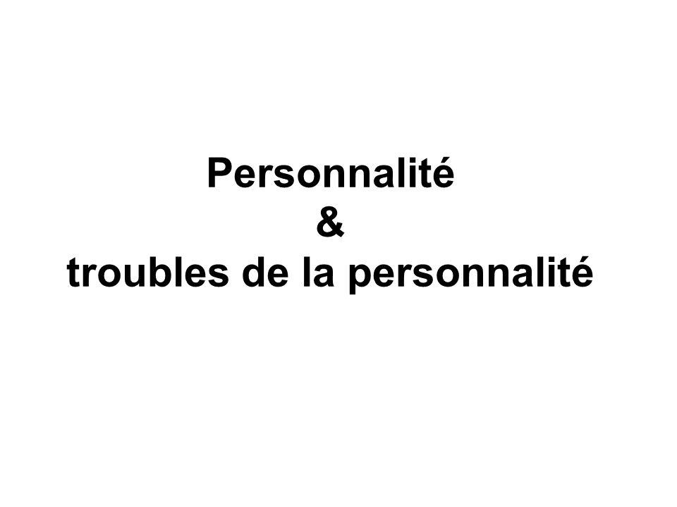 Personnalité & troubles de la personnalité
