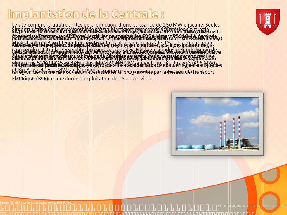 Implantation de la Centrale :