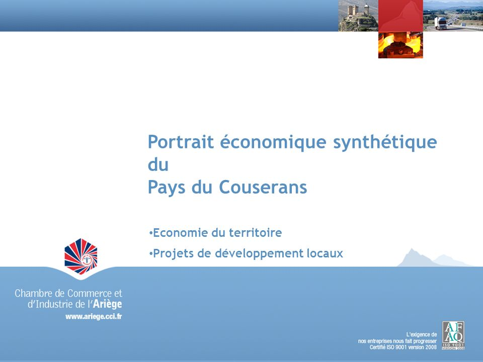 Portrait économique synthétique du Pays du Couserans