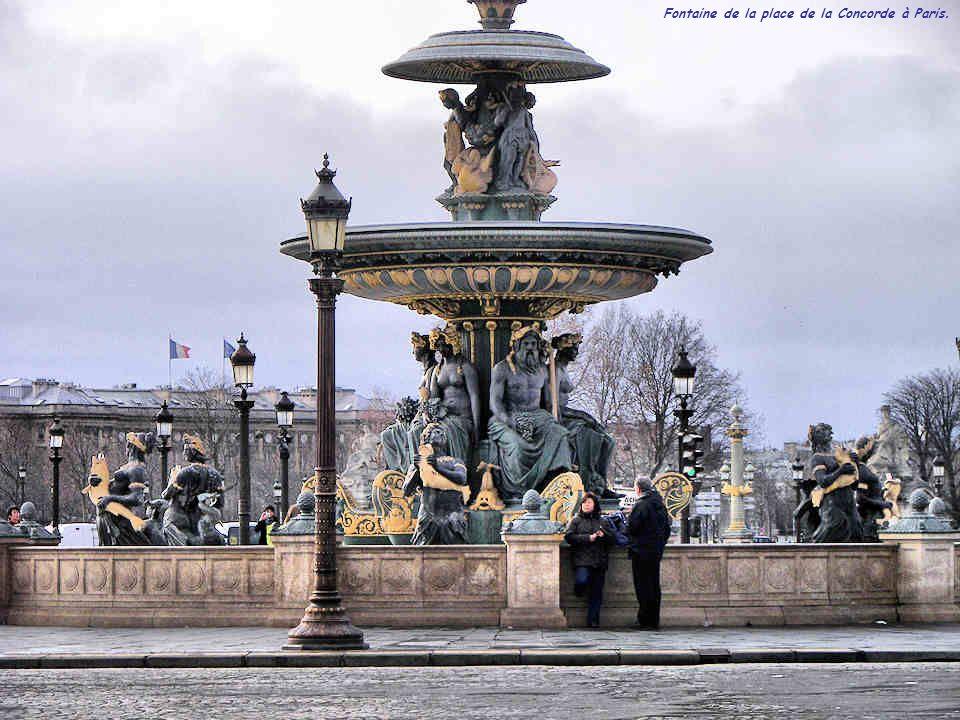 Fontaine de la place de la Concorde à Paris.