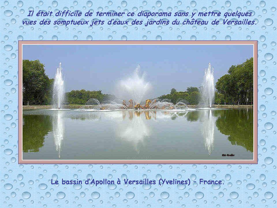 Le bassin d'Apollon à Versailles (Yvelines) – France.