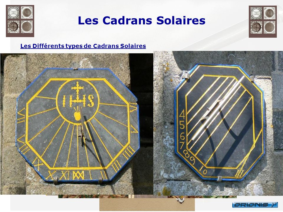 Les Cadrans Solaires Les Différents types de Cadrans Solaires