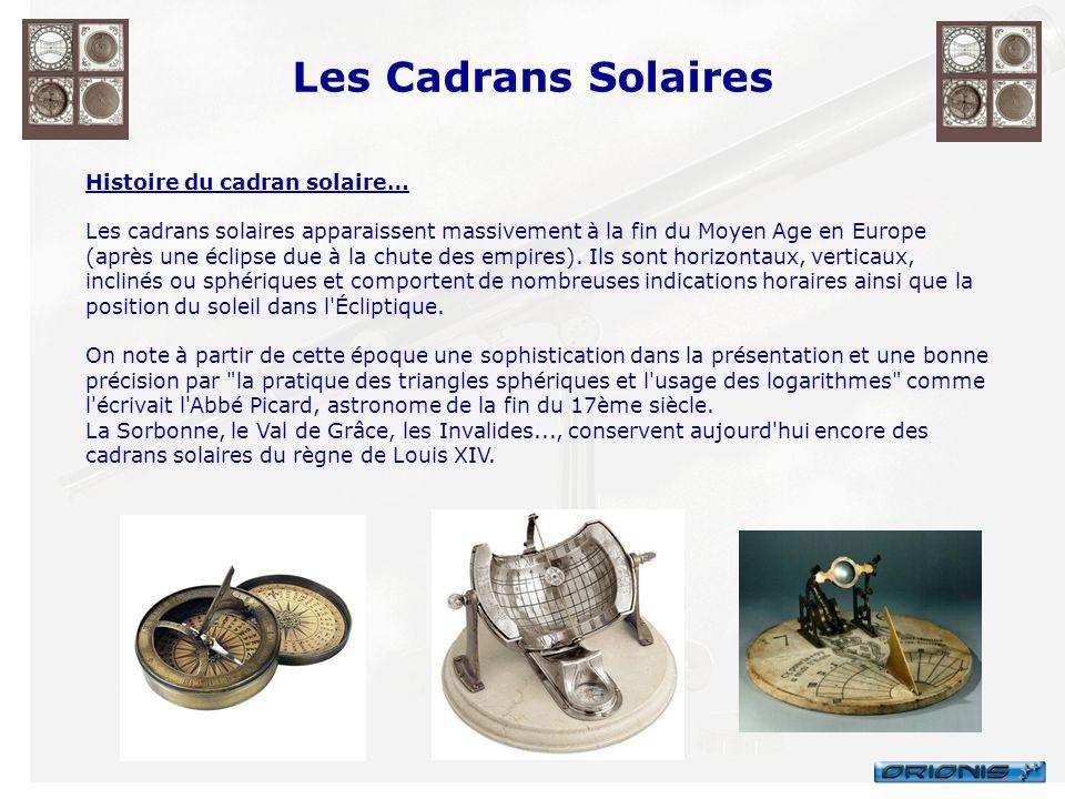 Les Cadrans Solaires Histoire du cadran solaire…