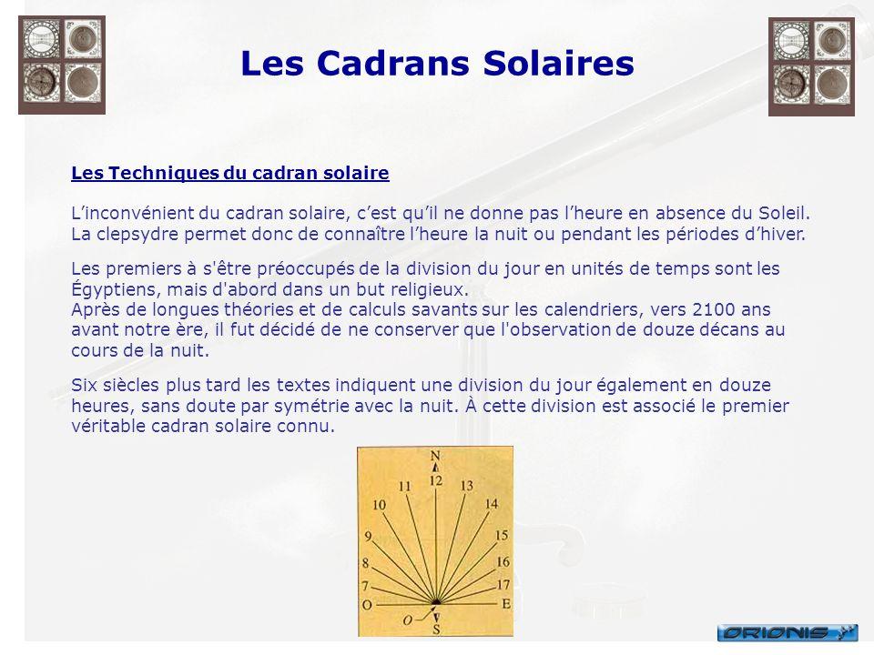 Les Cadrans Solaires Les Techniques du cadran solaire