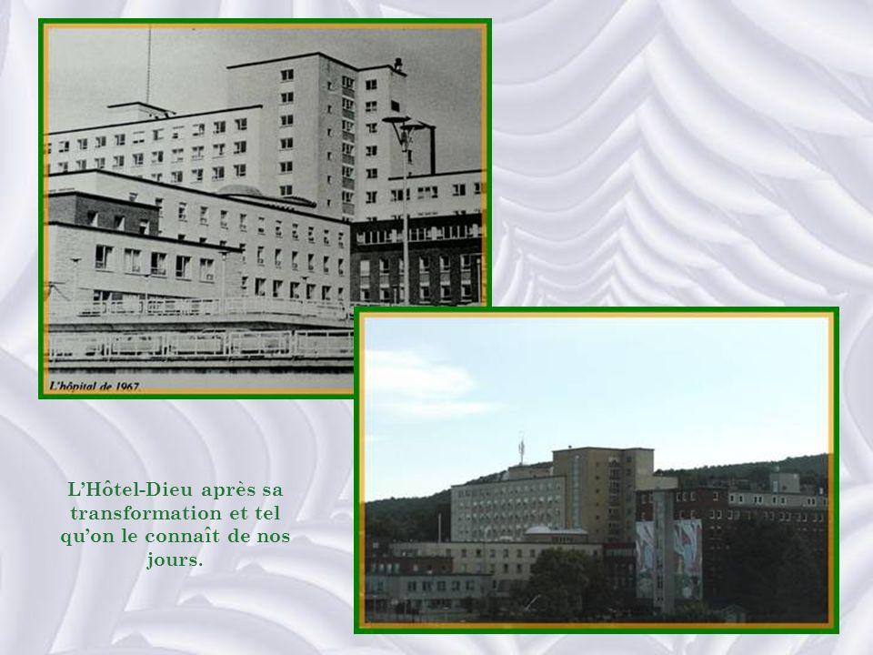 L'Hôtel-Dieu après sa transformation et tel qu'on le connaît de nos jours.