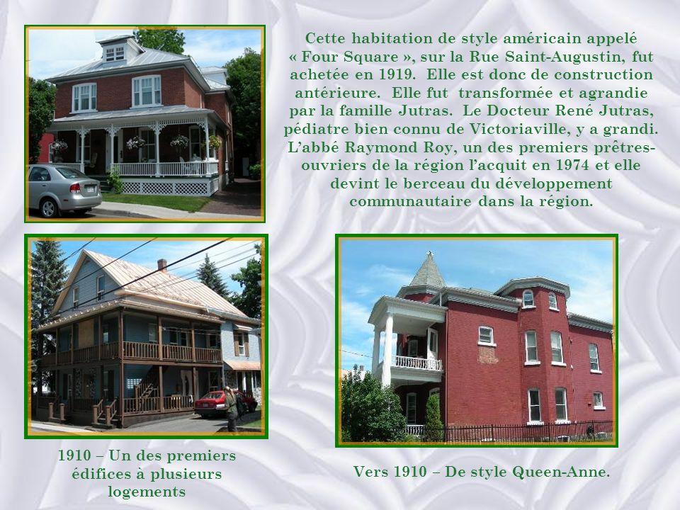 1910 – Un des premiers édifices à plusieurs logements