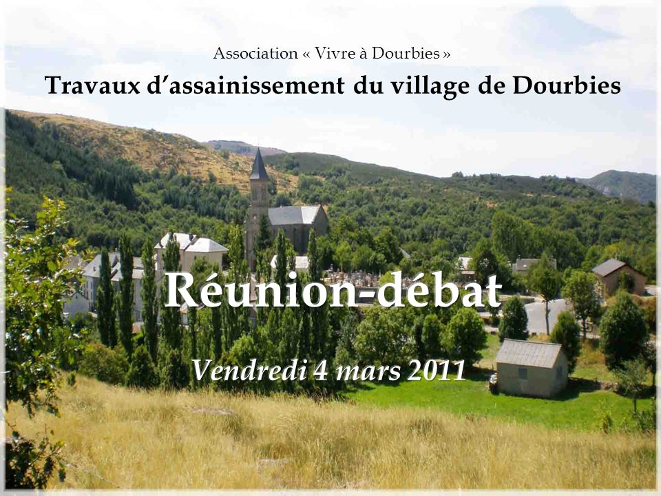 Travaux d'assainissement du village de Dourbies