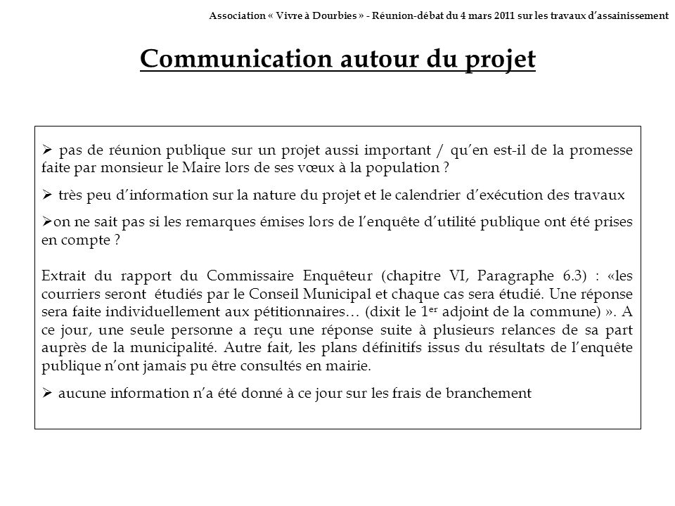 Communication autour du projet