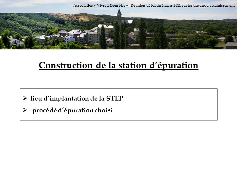 Construction de la station d'épuration