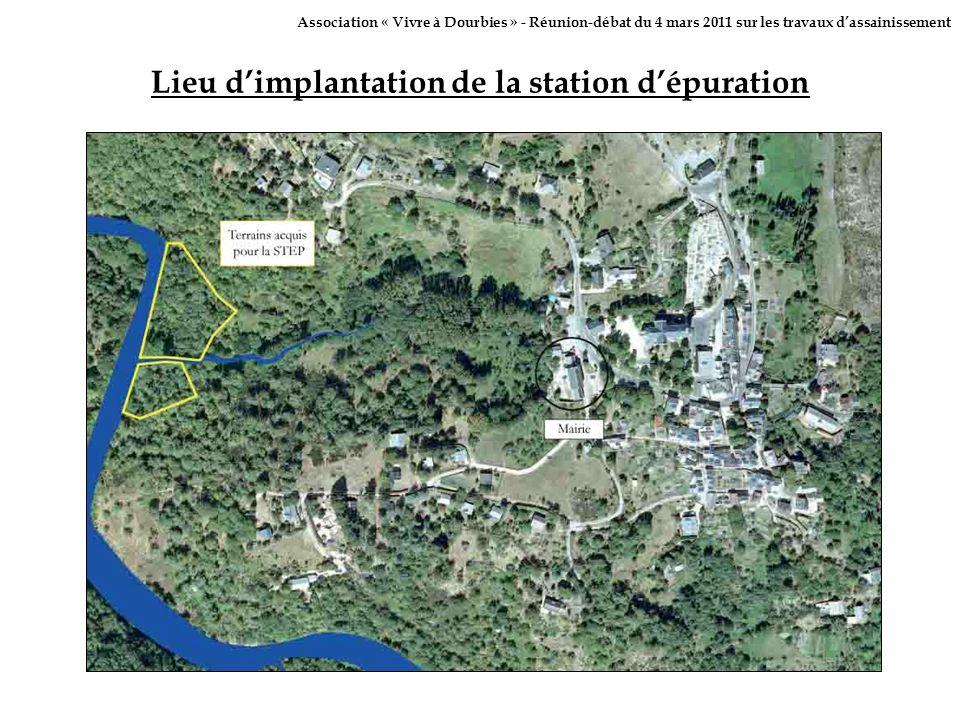 Lieu d'implantation de la station d'épuration