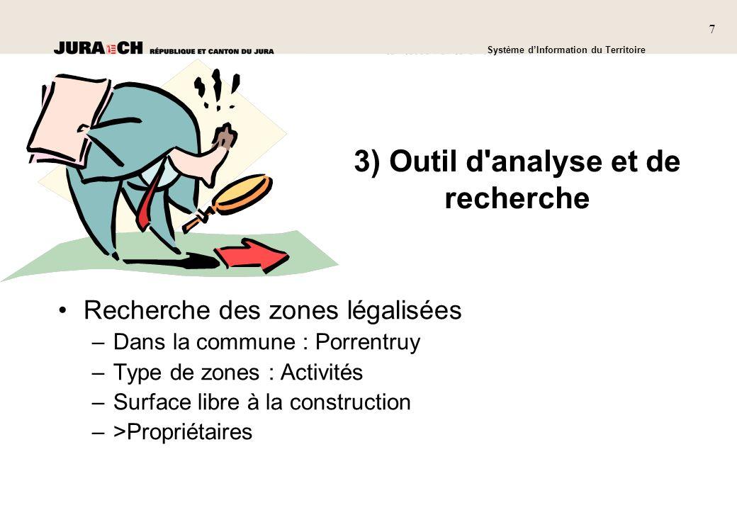 3) Outil d analyse et de recherche