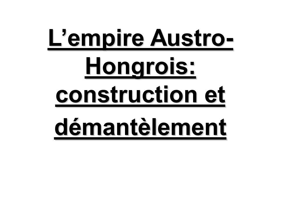 L'empire Austro-Hongrois: construction et démantèlement