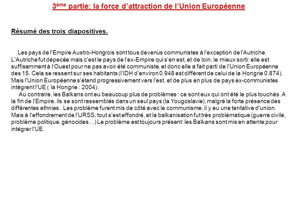 3ème partie: la force d'attraction de l'Union Européenne