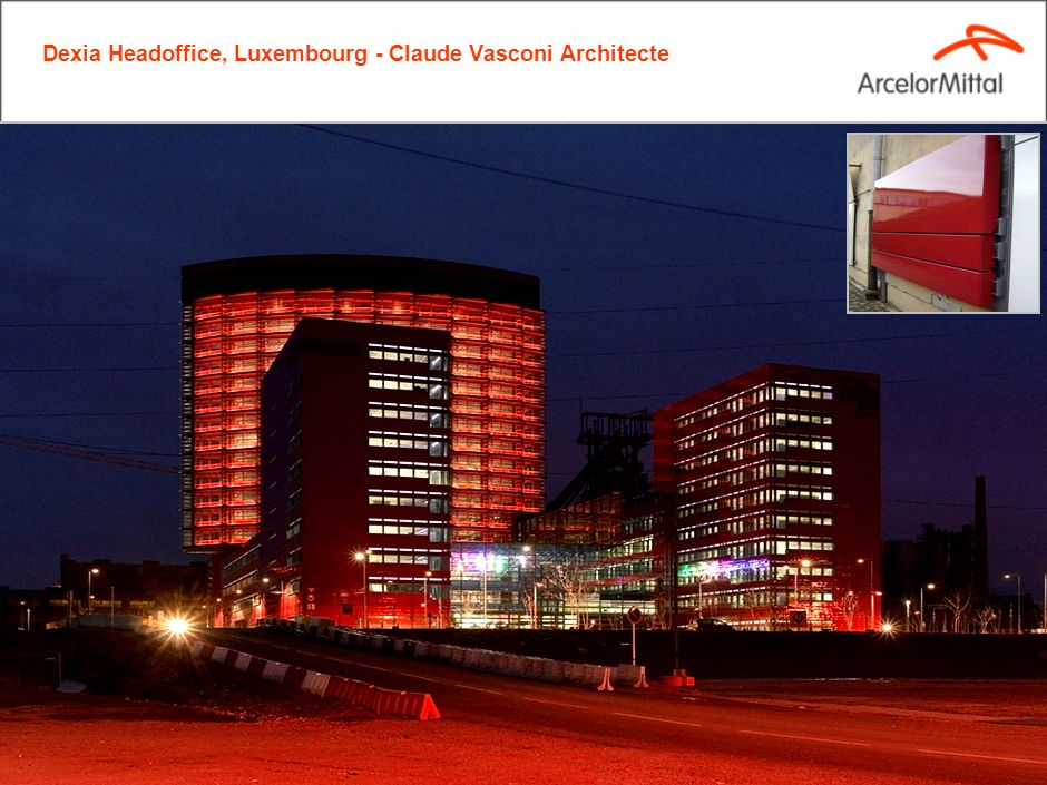 Arcelormittal transforming tomorrow ppt video online for Claude vasconi architecte