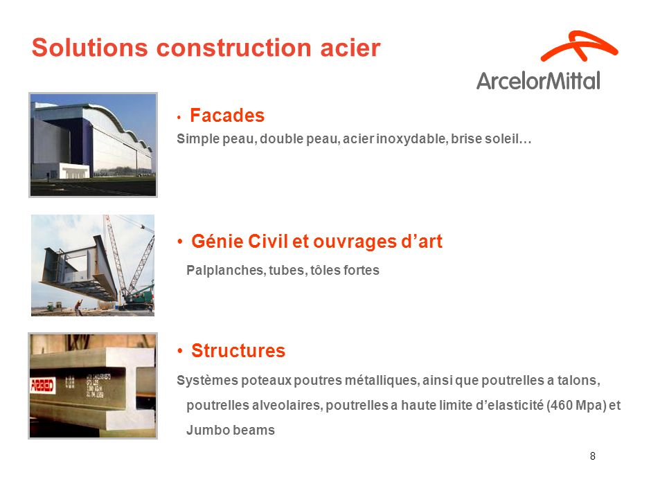 Solutions construction acier